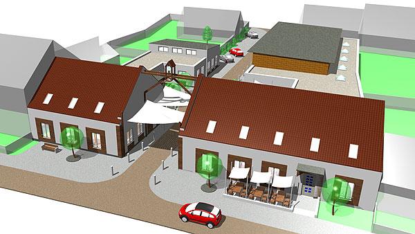 Víceúčelové zařízení Kuchařovice projekt 2009